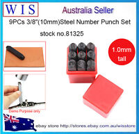 "9pc 3/8""(10mm)Steel Number Punch Set,Steel Number Stamps Set,Jewelry Tools-81325"