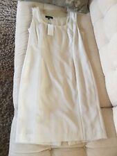 Lafayette 148 New York Sleeveless Silk Dress Cream Sz 8 NWT $548