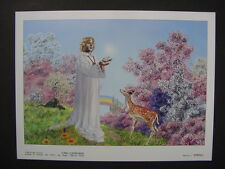 """1984 CARL LUNDGREN Limited Color Art Plate 2 """"SPRING"""" from Seasons of Wizardry"""