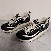 Skechers Shape Ups Women's Walking Toning Shoes Black & White SN11809 Size 9.5US
