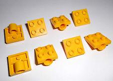 Lego (2444) 8 Platten 2x2 mit Achsloch, in gelb aus 8098 8439 8264 7879