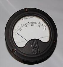"WESTINGHOUSE 0-100 DC - 3-1/2"" ROUND PANEL METER"