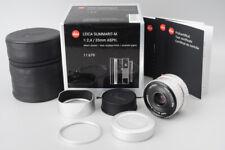*MINT* Leica Summarit-M 35mm f/2.4 F2.4 E46 ASPH. Lens (11679) Silver, M Mount