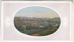 Rudolf Dikenmann: Bern, herrliche hand-kolorierte Ansicht um 1865