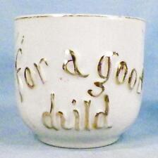 For A Good Child Presentation Mug Vintage Porcelain Leaves Gold Nice Gift