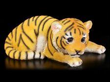 Gartenfigur - Baby Tiger - niedliches Tigerbaby Deko Statue Raubkatze
