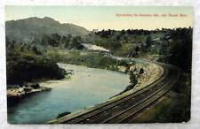 POSTCARD RAILROAD TRAIN BERKSHIRE HILLS NEAR RUSSELL MASSACHUSETTS #A1
