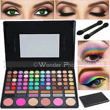 78 Color Eyeshadow Palette Eye Shadow Makeup Set Kit Make Up Brush Tool Box UK
