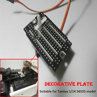 Decorative Servo Grinding Disc Plate Kit for Tamiya 1/14 56535 RC Tractor Truck