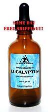 EUCALYPTUS ESSENTIAL OIL AROMATHERAPY 100% PURE NATURAL GLASS DROPP 2.0 OZ 59 ML
