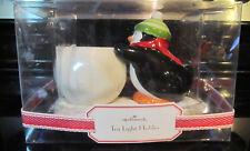 Holiday Christmas NIB Penguin Tea Light Holder Collectible Hallmark Winter NEW