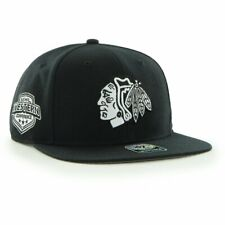 9aee56507cfc31 Chicago Blackhawks '47 Brand Sure Shot Adjustable Snapback Hat - Black
