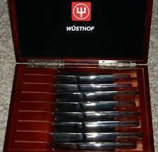 Wusthof Trident Gourmet 8-Piece Steak Knife Set In Presentation Storage Case ~T2