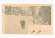 Mansfield Street Snow Montreal Rare Antique Winter Kids Quebec Pmc Early 1901