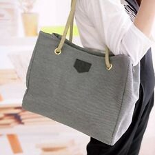 Fashion Women Hobo Canvas Shoulder Bag Messenger Tote Shopping Handbag Purse