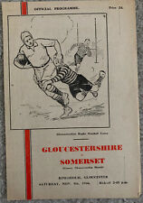 More details for gloucestershire v somerset 1946/47 rugby union