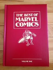 Best Of Marvel Comics Vol. 1 , 1987 Leather ( synthetic )  Bound Hard Cover Book