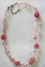 Lia Sophia Assorted Pink Glass Necklace