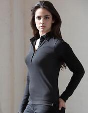 Langarm Damenblusen, - tops & -shirts aus Baumwolle und Stretch