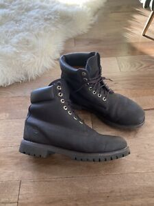 "Timberland 6"" Inch Premium Boots Textured Chocolate Dark Brown Shoes Size 10 GUC"
