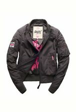 NEW RRP£94.99 XL SIZE WOMENS SUPERDRY RSD LITE PILOT BOMBER JACKET WASHED BLACK