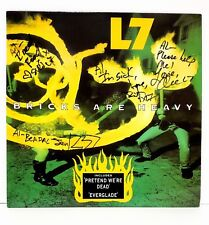 "L7 Donita Sparks +3 Signed Autographed ""Bricks Are Heavy"" Album Cover JSA R46286"