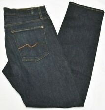 7 For All Mankind Jeans Men 36x34 Slimmy Slim Fit Stretch Denim Agate Wash Q082