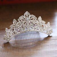 Bridal Wedding Jewelry Crystal Rhinestone Crown Hair Comb Headpieces Tiara