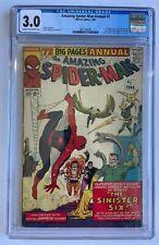 Amazing Spider-Man Annual #1 CGC 3.0 Marvel 1964 1st App Sinister Six