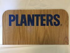 PLANTERS PEANUTS MR. PEANUT WOODEN STORE DISPLAY SIGN/ADVERTISEMENT/ADVERTISING