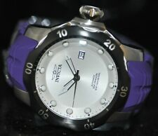 Invicta Mens Rare Venom Sea Dragon Automatic Silver Dial Purple Poly Watch 19304