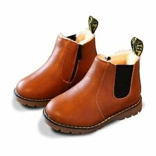 Autumn Winter Boys Girls Sneakers Kids Sneakers Child Leather Boots Toddler Kids