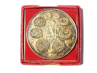 1953 National Chrysanthemum Society NCS Medal BOXED - Uttoxeter H. Wood  #4