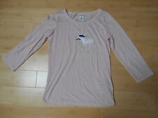 BNWOT Abercrombie & Fitch Luz Rosa 3/4 Sleeve Top With Front motivo-XL/12-14yrs