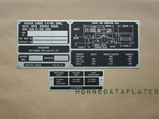 M416 TRAILER DATA PLATES ID TAGS M38 M38A1 M151 MUTT