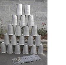 50 MAPLE SYRUP Aluminium Sap BUCKETS + 50 Lids Covers + 50 Taps Spouts Spiles