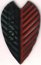 Red and Black Vortex Dart Flights: 3 per set