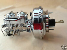 """67 68 69 70 Mustang Chrome disc brake booster & 1 1/8"""" bore master cyl w/ valve"""
