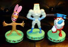 Ren Stimpy Powdered Toast Man Original Series Dakin 1994 PVC Set of 3 Figures