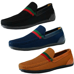 Slip On Moccasins Breathable Loafers Woven Smart Boat Driving Shoes Mens Size