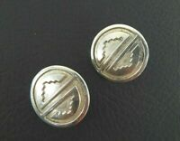 Antique Vintage Earrings Solid 925 Sterling Silver Concho Southwestern Screw