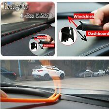Black Rubber 1.6m Sealing Strip Car Windshield Dashboard Soundproof Anti-dust