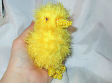 BABY CHICK DOLL ooak folk art hand crocheted plush fabric soft baby Easter bear