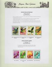 1975 PNG PAPUA NEW GUINEA Butterflies South Pacific Games STAMP SET K-437