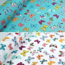 100% Cotton Poplin Fabric Rose & Hubble Bright Butterflies Fluttering Butterfly