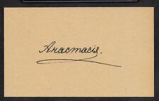 Grand Duchess Anastasia Romanov Autograph Reprint On Genuine 1910s 3x5 Card