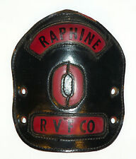 "Raphine ""0"" RVF Co Leather Fire Helmet Shield front plate salesman sample"