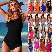 09d49c6a78 Womens One Piece Swimsuit Swimwear Push-up Monokini Bikini Beach Sporty  Bathing