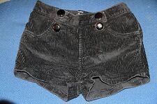 baby gap girls  black corduroy shorts size 3 100cm with button detail