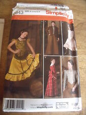 """PATRON """"SIMPLICITY COSTUME HISTORY LE FAR WEST  TAILLE 7/8/10/12/14"""